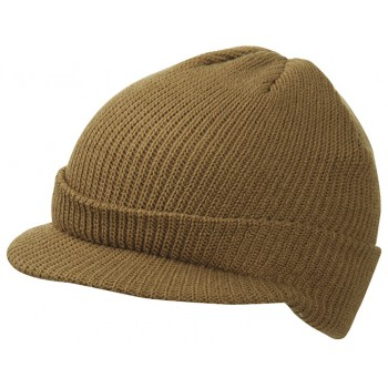 Knitted Cap with peak